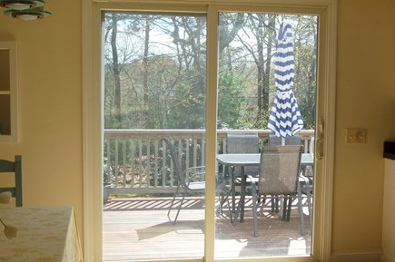 Orleans Cape Cod vacation rental - View to the deck which runs the full length of the house.