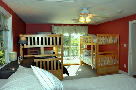 South Dennis Cape Cod vacation rental - Bunk beds with water views and deck