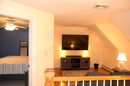 South Dennis Cape Cod vacation rental - Loft entertainment area and sleeper sofa