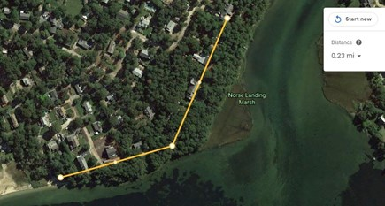 South Dennis Cape Cod vacation rental - Quaker Road Beach to the home via Old Mayfair