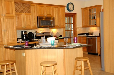 South Dennis Cape Cod vacation rental - Stainless steel appliances, central island breakfast bar