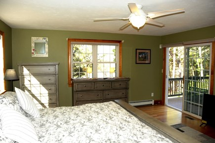 South Dennis Cape Cod vacation rental - Master bedroom with slider to deck
