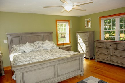 South Dennis Cape Cod vacation rental - Master king bed with water views and deck
