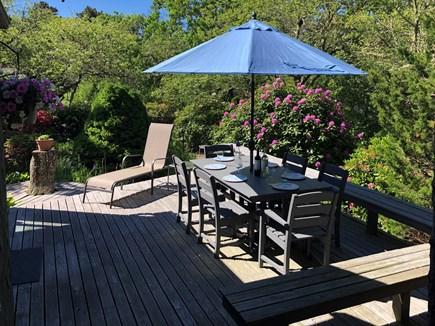 Eastham Cape Cod vacation rental - Private deck