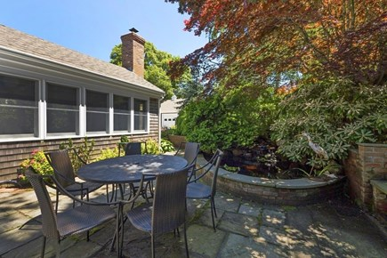 East Orleans Cape Cod vacation rental - Gorgeous sitting area surrounded by lush garden and pond