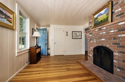 East Orleans Cape Cod vacation rental - Front Living Room - gas fireplace