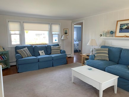 West Dennis Cape Cod vacation rental - Comfortable light filled living room with water views