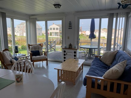 West Dennis Cape Cod vacation rental - Salty air & the sea breezes in the sun-room just off the kitchen
