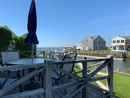West Dennis Cape Cod vacation rental - Dine outside with a water view and watch the boats go by