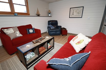 E Falmouth Cape Cod vacation rental - Relax in Lower Level Media Room. Sleeps Two More