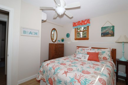 E Falmouth Cape Cod vacation rental - Cheery Lower Level Master Bedroom with Queen Bed