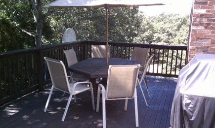 E Falmouth Cape Cod vacation rental - Deck with View of Great Pond