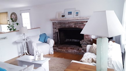 Brewster Cape Cod vacation rental - Living Room- with fireplace