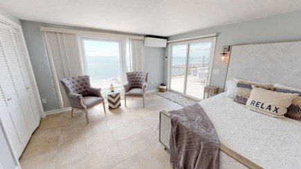 Harwich Cape Cod vacation rental - Down stairs Master Bedroom over looking the Water.