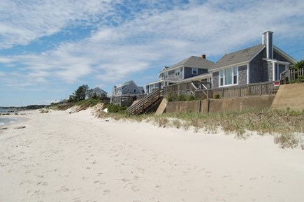 Harwich Cape Cod vacation rental - Out side Beach looking back at home.
