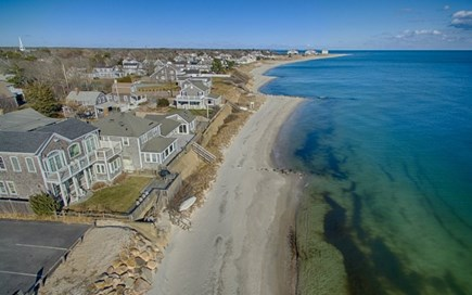 Harwich Cape Cod vacation rental - Over Head of beach & House.