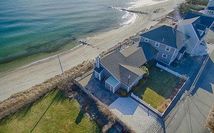 Harwich Cape Cod vacation rental - Overhead of beach & house.