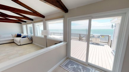 Harwich Cape Cod vacation rental - Living room with water view.
