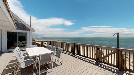 Harwich Cape Cod vacation rental - Out side deck over looking the Ocean.