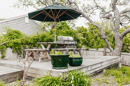 Brewster Cape Cod vacation rental - One of two outdoor dining areas