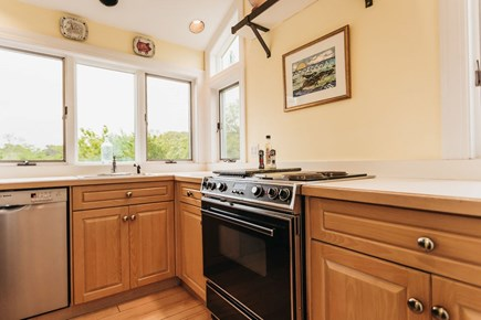 Brewster Cape Cod vacation rental - Galley kitchen (microwave, fridge, toaster, etc not pictured)