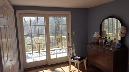 Eastham Cape Cod vacation rental - Master bedroom private deck