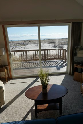 North Truro Cape Cod vacation rental - Step out from the living room to the deck and the beach