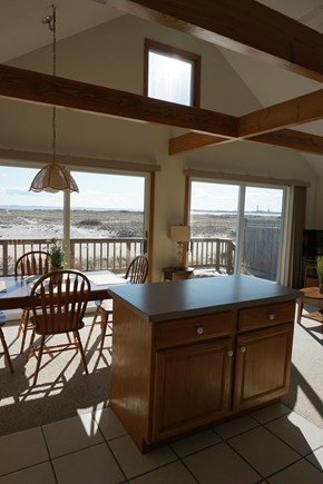 North Truro Cape Cod vacation rental - View from the sunny Kitchen