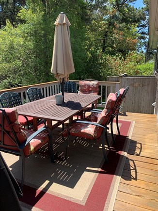 Dennis Port Cape Cod vacation rental - Private back yard with deck and outdoor shower