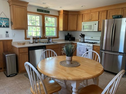 Dennis Port Cape Cod vacation rental - Kitchen with new cabinets and appliances.
