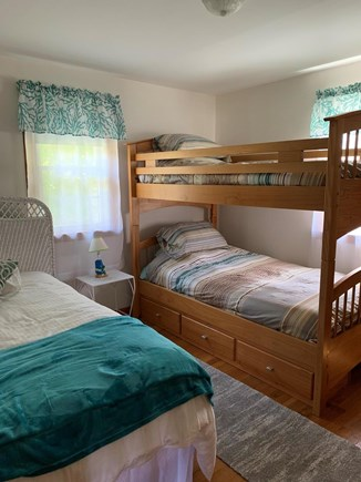 Dennis Port Cape Cod vacation rental - Bunk room with twin bunk and full bed