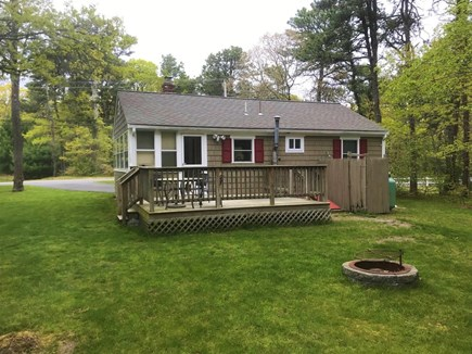 South Dennis Cape Cod vacation rental - Large Back Yard with Fire Pit
