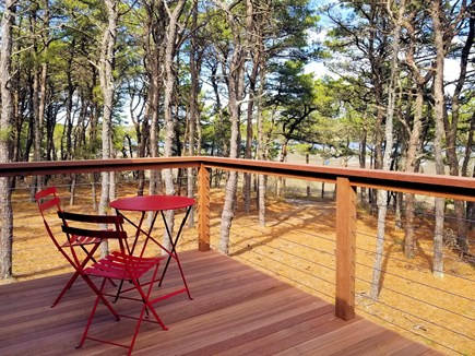Wellfleet Cape Cod vacation rental - Front deck with amazing tidal marsh views and bistro table