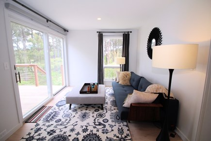Wellfleet Cape Cod vacation rental - Sitting area off living room with fold-out sofa