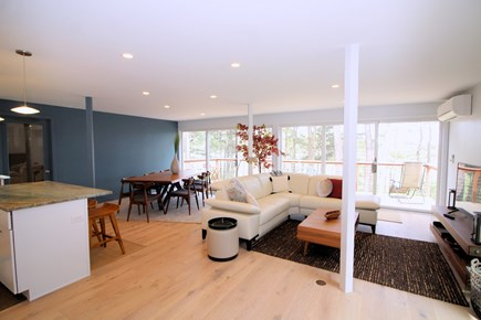 Wellfleet Cape Cod vacation rental - Space is open and bright with sliders to two decks