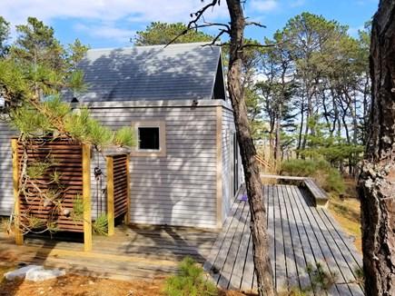 Wellfleet Cape Cod vacation rental - Beautiful mahogany enclosed outdoor shower