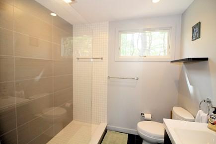 Wellfleet Cape Cod vacation rental - Bathroom with custom tub/shower