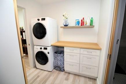 Wellfleet Cape Cod vacation rental - Washer and dryer in hall near bathroom