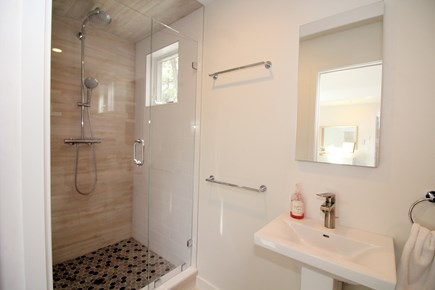 Wellfleet Cape Cod vacation rental - Master en suite bathroom with custom tiled shower