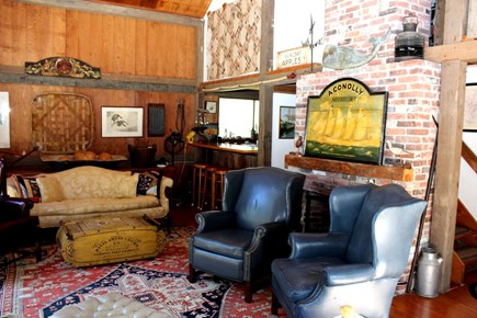 Wellfleet Cape Cod vacation rental - Living room has comfortable seating and TV