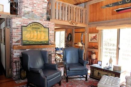 Wellfleet Cape Cod vacation rental - Living room with open loft above