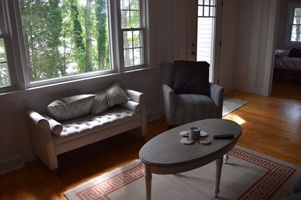 Mashpee Cape Cod vacation rental - Relaxing living room...picture window welcomes in morning light