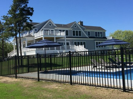 Brewster Cape Cod vacation rental - View from the pool