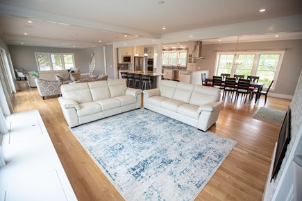 Brewster Cape Cod vacation rental - First-floor living area with 3 sections that can seat15-20 people