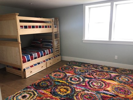 Brewster Cape Cod vacation rental - Kids bedroom in the basement with TV