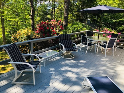 Brewster Cape Cod vacation rental - Large deck