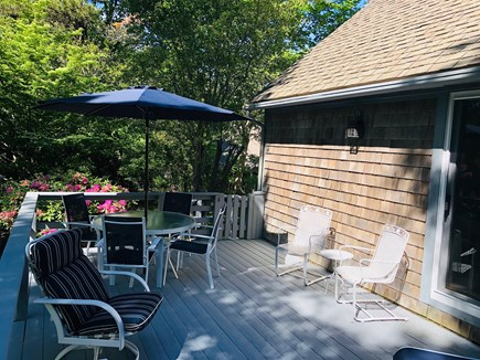 Brewster Cape Cod vacation rental - Deck enters into Family room and kitchen