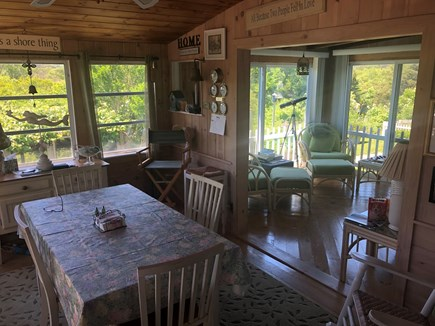 East Sandwich Beach Cape Cod vacation rental - Cape Cod dining room/sun room