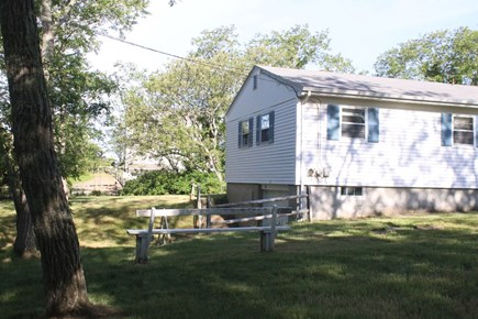 Eastham Cape Cod vacation rental - Side Yard showing path to beach