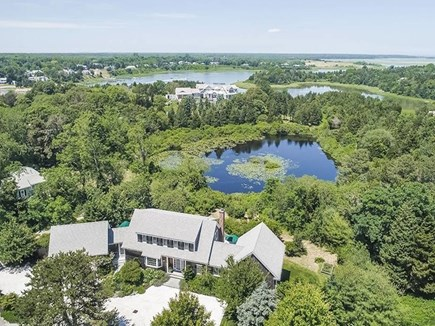 East Orleans Cape Cod vacation rental - Aerial view of pond and ocean